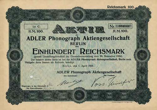 ADLER Phonograph