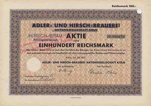 Adler- und Hirsch-Brauerei