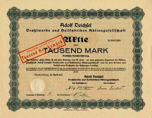 Adolf Deichsel Drahtwerke und Seilfabriken