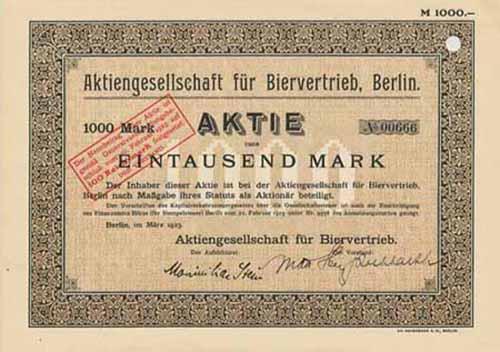 AG für Biervertrieb