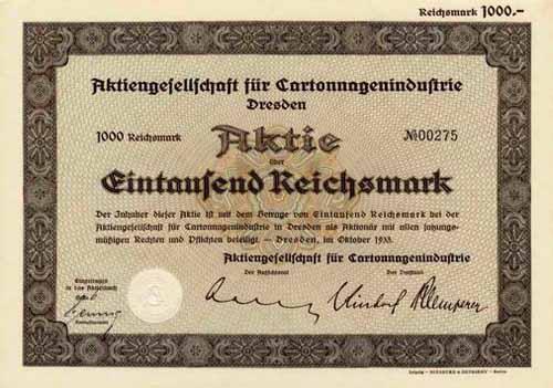 AG für Cartonnagenindustrie