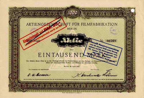 AG für Filmfabrikation