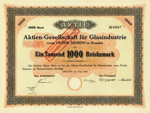 AG für Glasindustrie vorm. Friedr. Siemens
