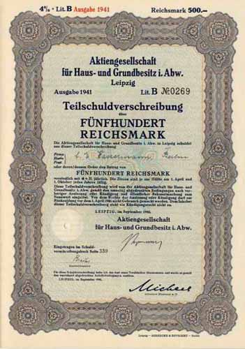 AG für Haus- und Grundbesitz i. Abw.