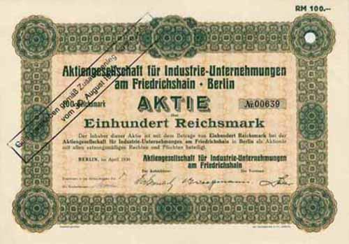 AG für Industrie-Unternehmungen am Friedrichshain