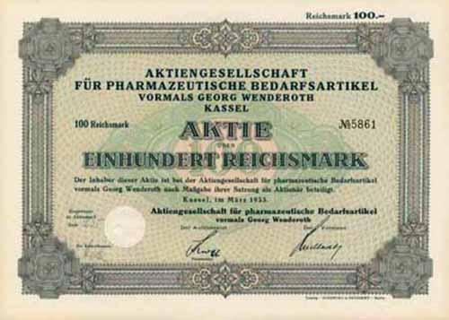 AG für pharmazeutische Bedarfsartikel vormals Georg Wenderoth