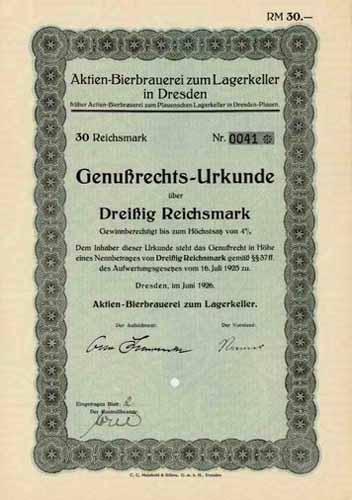 Aktien-Bierbrauerei zum Lagerkeller in Dresden