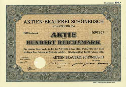 Aktien-Brauerei Schönbusch