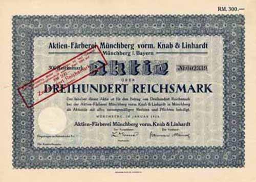 Aktien-Färberei Münchberg vorm. Knab & Linhardt