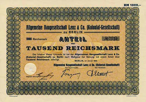Allgemeine Baugesellschaft Lenz & Co.