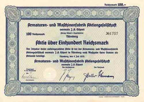 Armaturen- und Maschinenfabrik vormals J.-A. Hilpert (Amag-Hilpert-Pegnitzhütte)