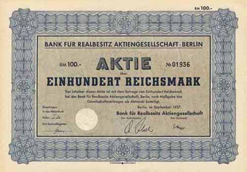 Bank für Realbesitz