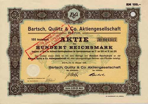 Bartsch, Quilitz & Co.