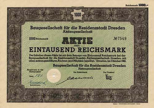 Baugesellschaft für die Residenzstadt Dresden
