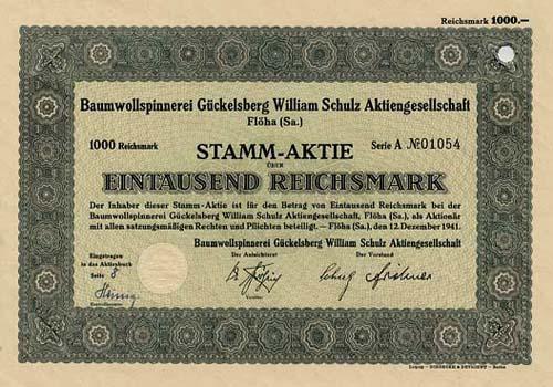 Baumwollspinnerei Gückelsberg William Schulz