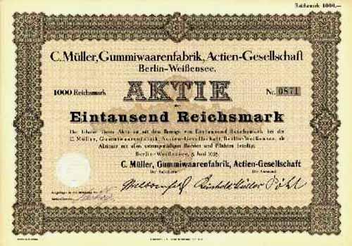 C. Müller, Gummiwaarenfabrik