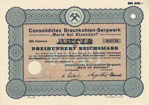 Consolidirtes Braunkohlen-Bergwerk