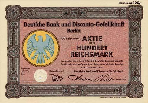 Deutsche Bank und Disconto-Gesellschaft