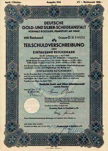 Deutsche Gold- und Silber-Scheideanstalt vormals Roessler