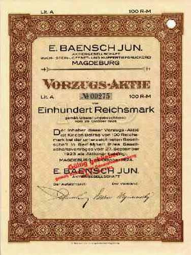 E. Baensch jun.