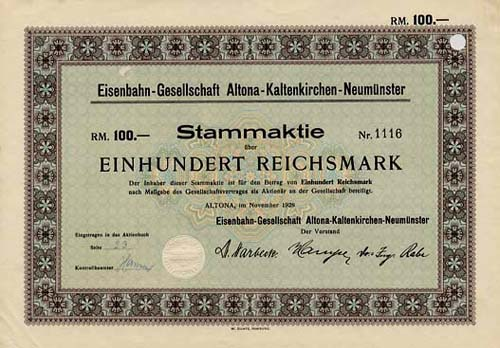 Eisenbahn-Gesellschaft Altona-Kaltenkirchen-Neumünster