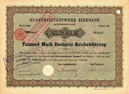Elektricitätswerk Eisenach