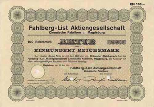 Fahlberg-List Chemische Fabriken