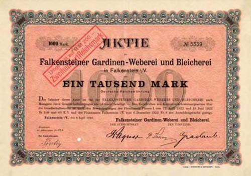 Falkensteiner Gardinen-Weberei und Bleicherei