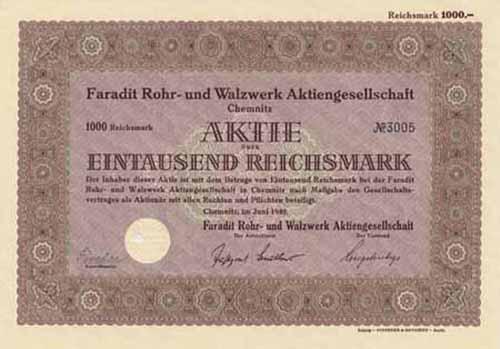Faradit Rohr- und Walzwerk