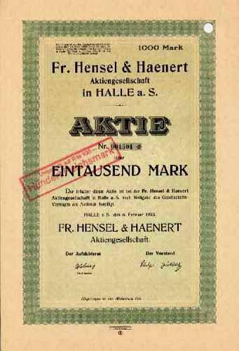 Fr. Hensel & Haenert