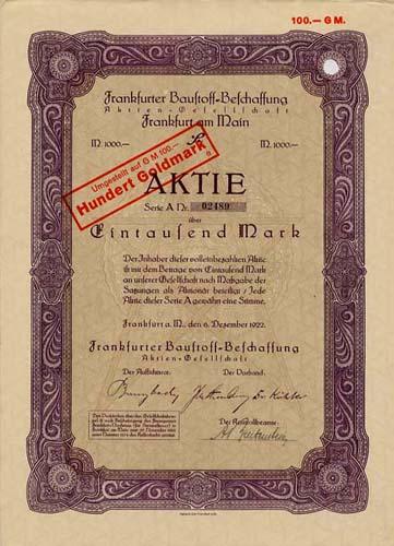 Frankfurter Baustoff-Beschaffung