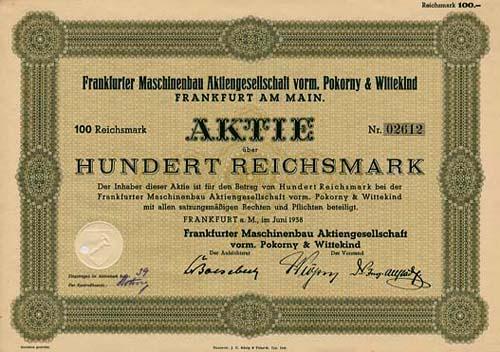 Frankfurter Maschinenbau vorm. Pokorny & Wittekind
