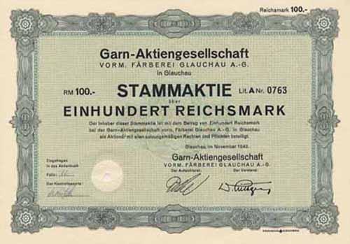 Garn-AG vorm. Färberei Glauchau
