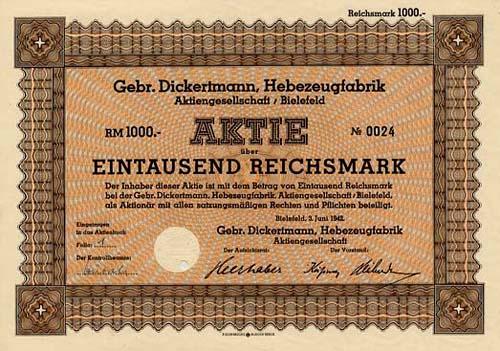 Gebr. Dickertmann, Hebezeugfabrik