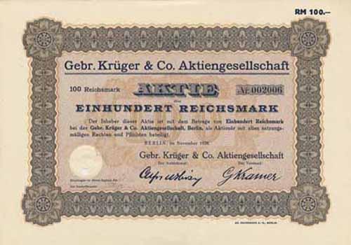 Gebr. Krüger & Co.