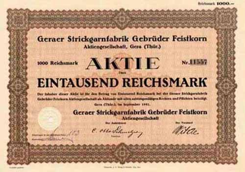 Geraer Strickgarnfabrik Gebrüder Feistkorn