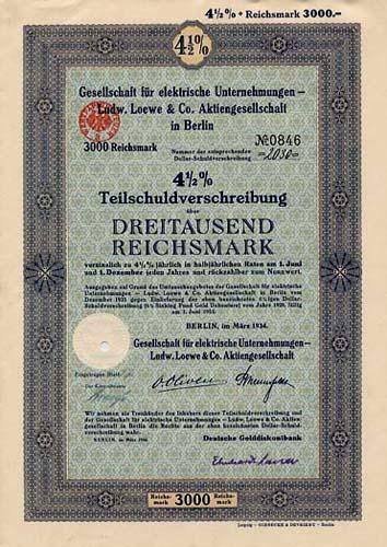 Gesellschaft für elektrische Unternehmungen - Ludw. Loewe & Co.
