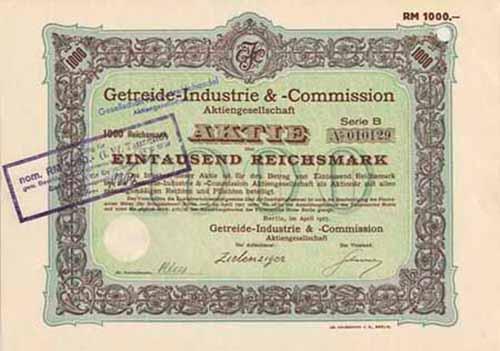 Getreide-Industrie & -Commission