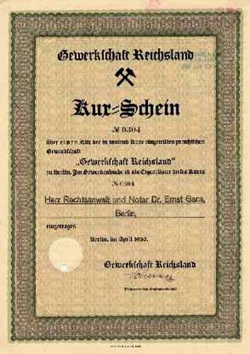 Gewerkschaft Reichsland