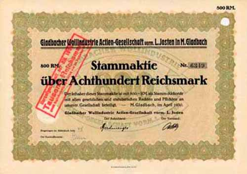 Gladbacher Wollindustrie vorm L. Josten