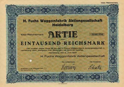 H. Fuchs Waggonfabrik