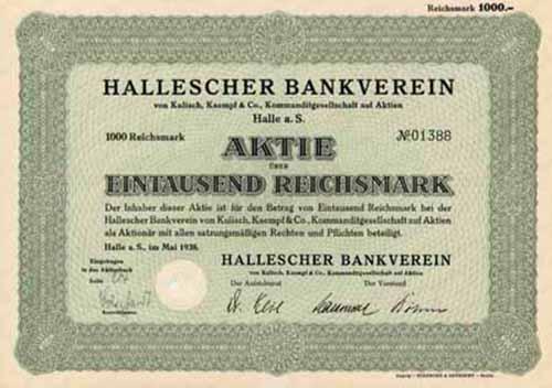 Hallescher Bankverein von Kulisch, Kaempf & Co.
