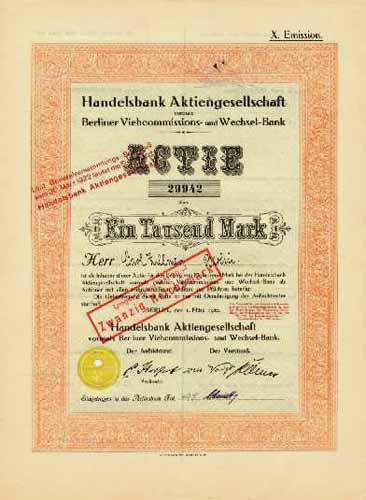 Handelsbank vormals Berliner Viehcommissions- und Wechsel-Bank