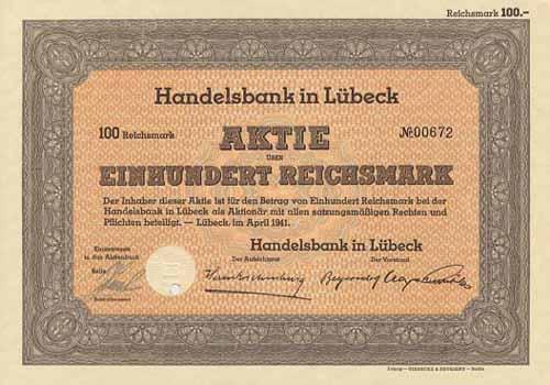 Handelsbank in Lübeck