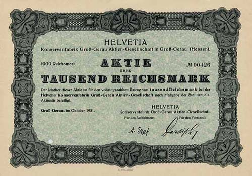 HELVETIA Konservenfabrik Groß-Gerau