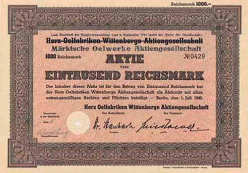 Herz Oelfabriken Wittenberge (Märkische Oelwerke)