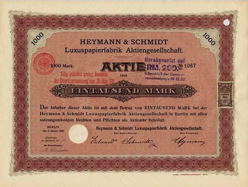 Heymann & Schmidt Luxuspapierfabrik