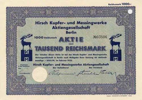 Hirsch Kupfer- und Messingwerke