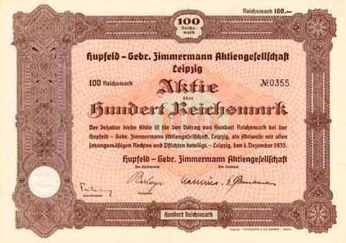 Hupfeld - Gebr. Zimmermann