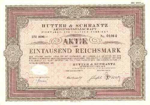 Hutter & Schrantz AG Siebwaren- und Filztuch-Fabriken